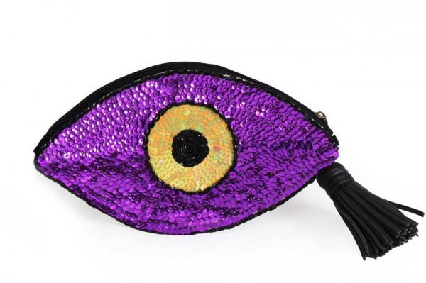 0002227 eye sequins clutch in purple