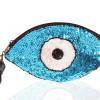 0002445 white eye sequins clutch in blue