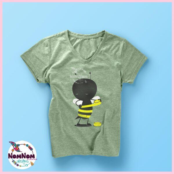 handpainted bee on a tshirt