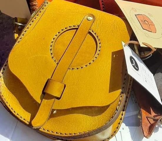 Yellow Handmade Leather Bag