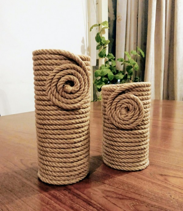 #handmade, #vase, #home accessories, #jute