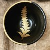 Unique painted plate with gold