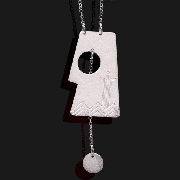 Aten necklace mat tplatinum plated