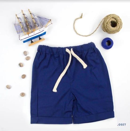 Boys Shorts Blue front