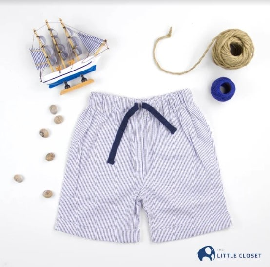 Boys Shorts Stripped front