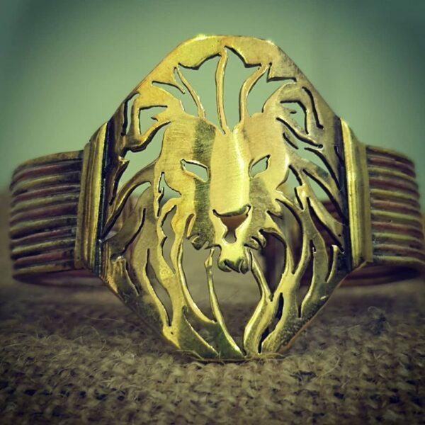 Brass lion cuff 1