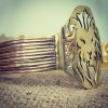 Brass lion cuff 2