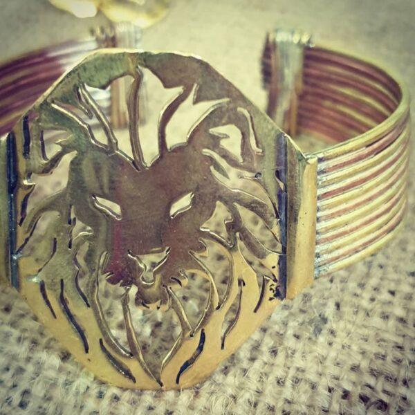 Brass lion cuff 3