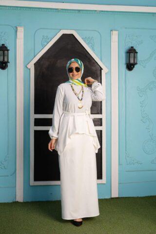 Off White Basic Skirt
