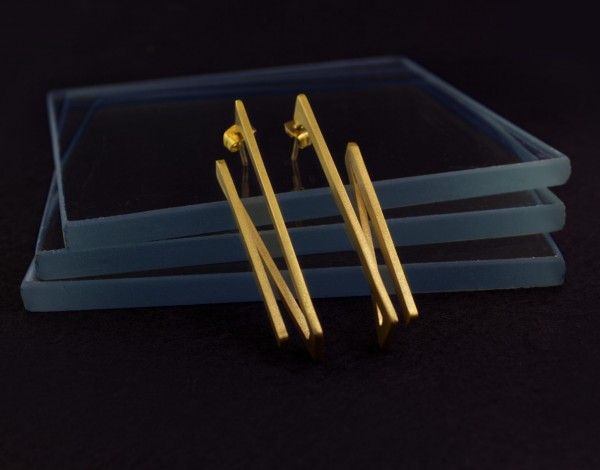 creative earring design gold plated jewelry