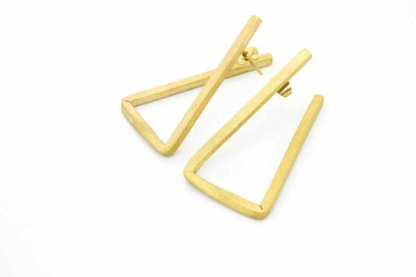 triangle hoops earrings