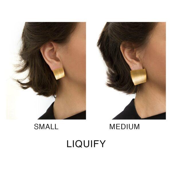 creative elegant square earrings that change its shape
