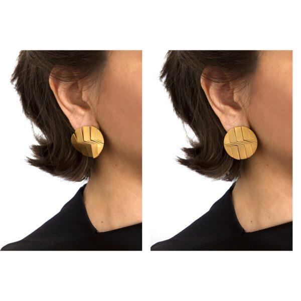 Liquify circle earring 2