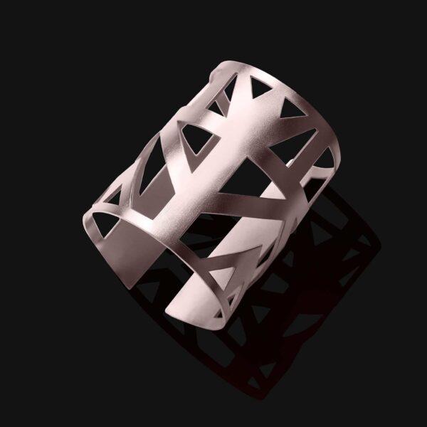 Lotus bracelet matt platinum plated 1 scaled