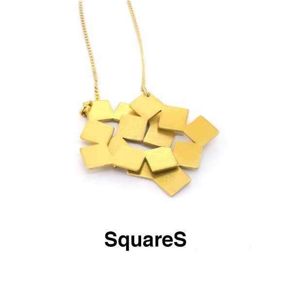 SQUARES NECKLACE GOLD PLATED