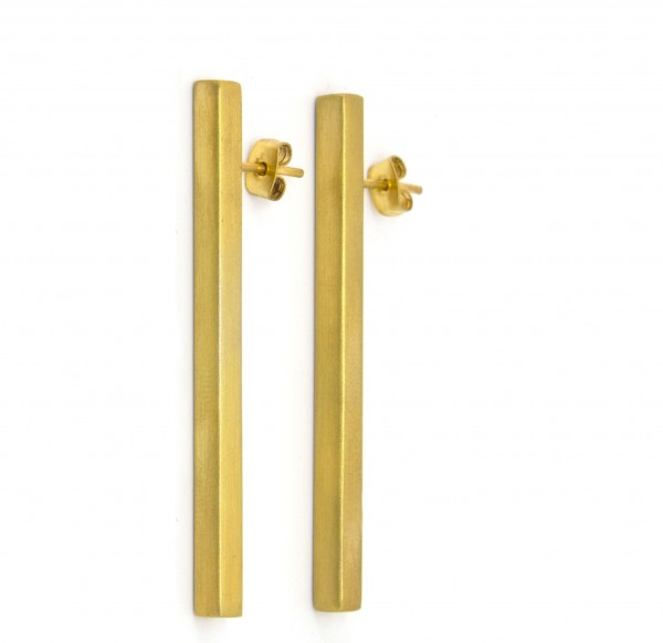 Earring gold plated brass jewelry creative design