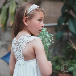 Pearly Lace White Dress