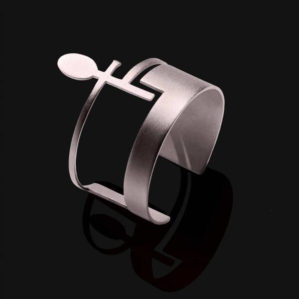 ankh bracelet matt patinum plated 1 scaled
