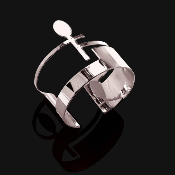 ankh bracelet shiny platinum plated 1 scaled