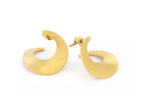 earring design jewelry brass gold plated