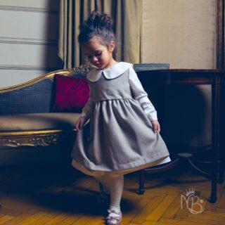 Beige Princess Winter Dress
