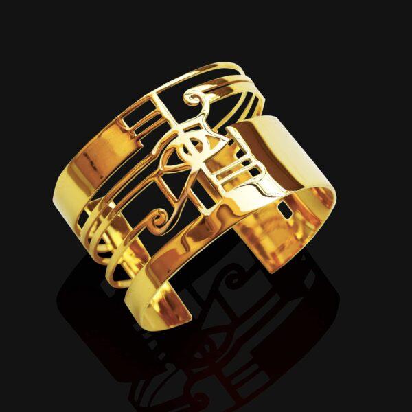 eye of horus bracelet shiny gold plated 18ks 1 scaled
