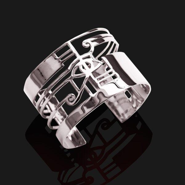 eye of horus bracelet shiny platinum plated