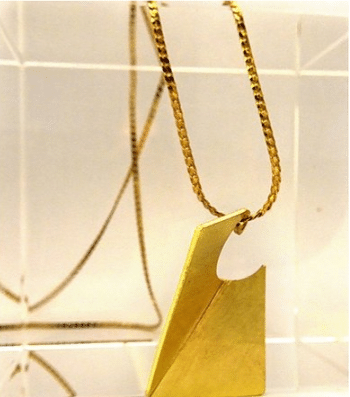 fold rectangle pendant