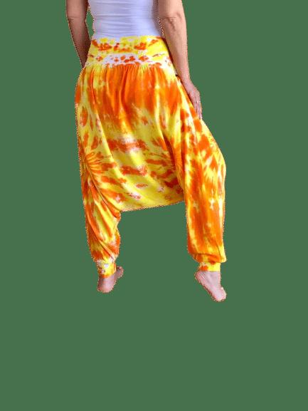 harem pants orange