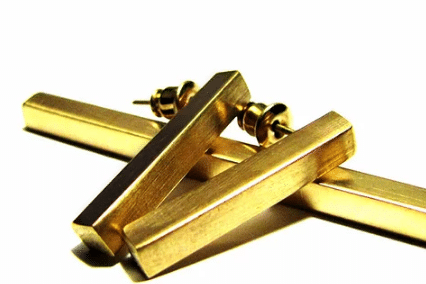 earring creative gold plated