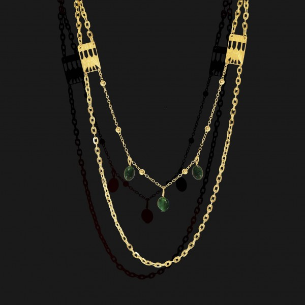 lotus necklace with jade stones gold plated 18k 1 scaled