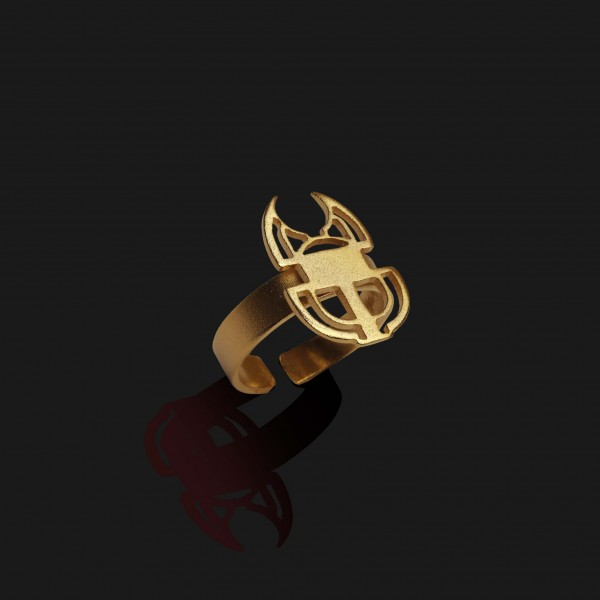 scarab ring matt gold plated 18k 1 scaled