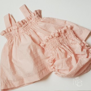 Baby Smocks Pink Set