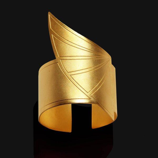 wing of horus bracelet matt gold 18ks scaled