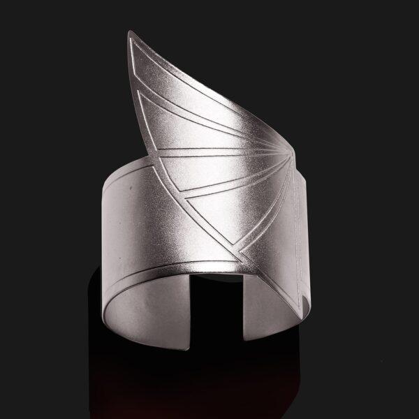 wing of horus bracelet matt platinum plated