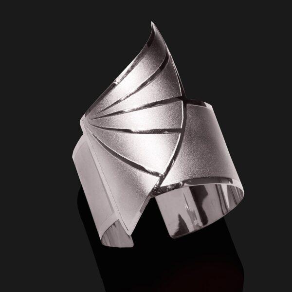 wing of horus bracelet mix shiny matt platinum